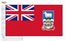 Falkland Islands Civil Red Ensign Courtesy Boat Flags (Roped and Toggled)